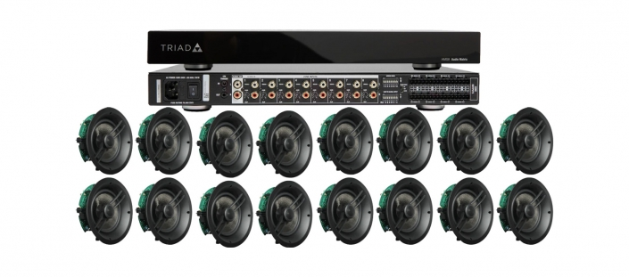 Triad 8 Zone Multiroom Audio Set